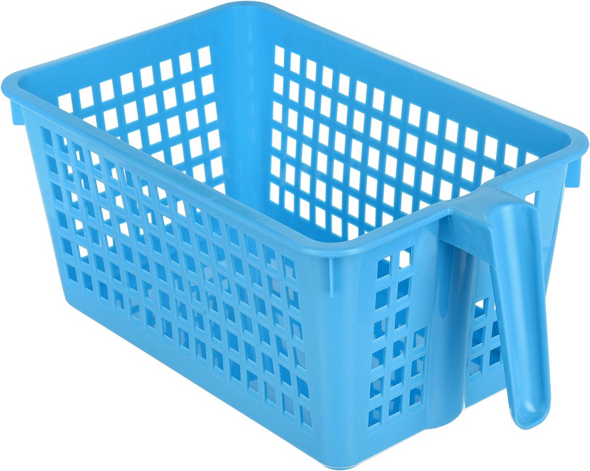 Корзинка универсальная Econova, с ручкой, цвет: голубой, 28 х 16 х 12 см847545_голубойУниверсальная корзинка Econova изготовлена из высококачественного пластика и предназначенадля хранения и транспортировки вещей.Корзинка подойдет как для пищевых продуктов, так и для ванных принадлежностей и различных мелочей. Изделие оснащено ручкой для более удобной транспортировки. Стенки корзинки оформлены перфорацией, что обеспечивает естественную вентиляцию. Удобная корзинка позволит вам хранить вещи компактно и с удобством.