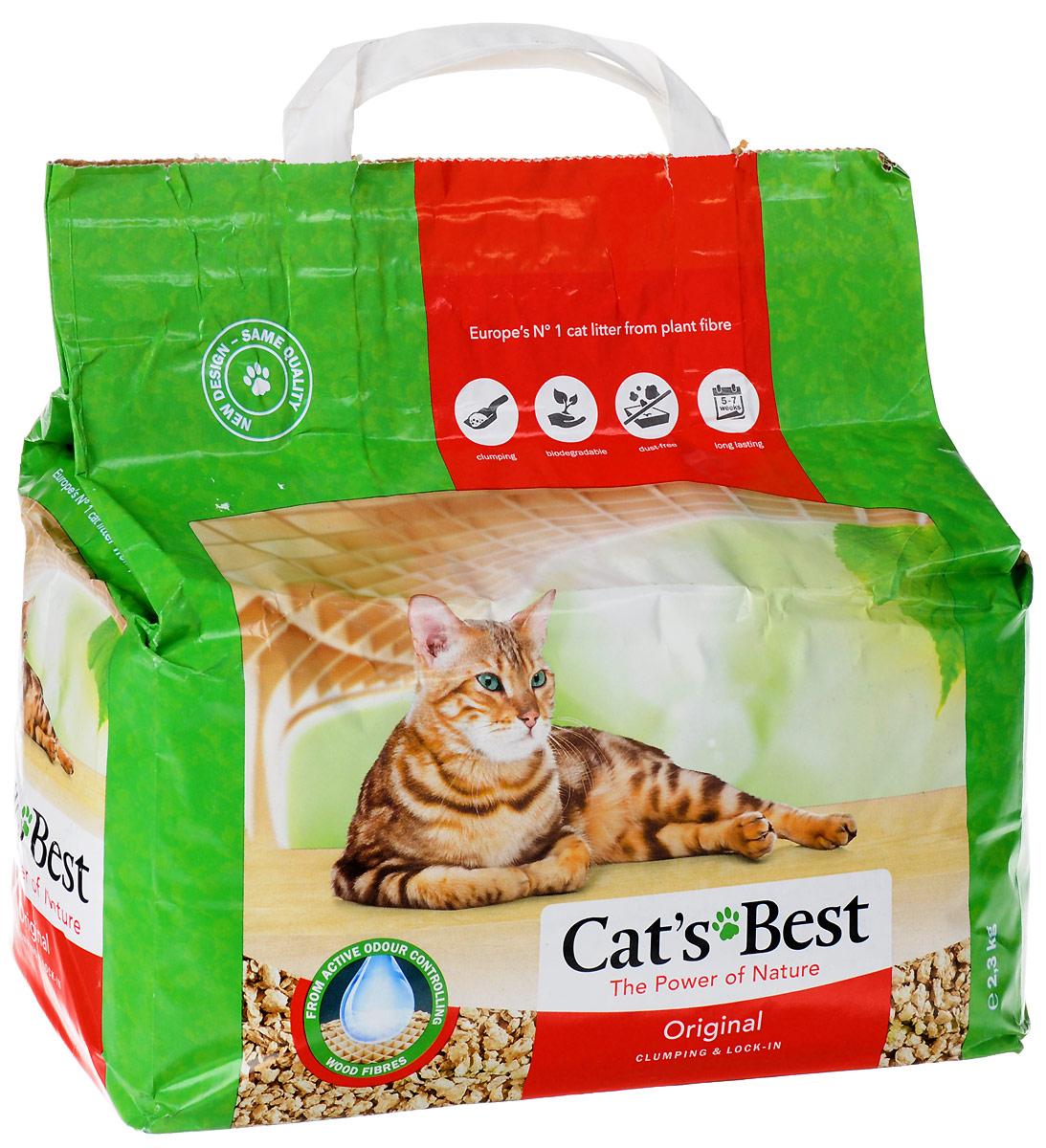"""Наполнитель древесный комкующийся Cat's Best """"Eko Plus"""", 5 л (2,1 кг)"""