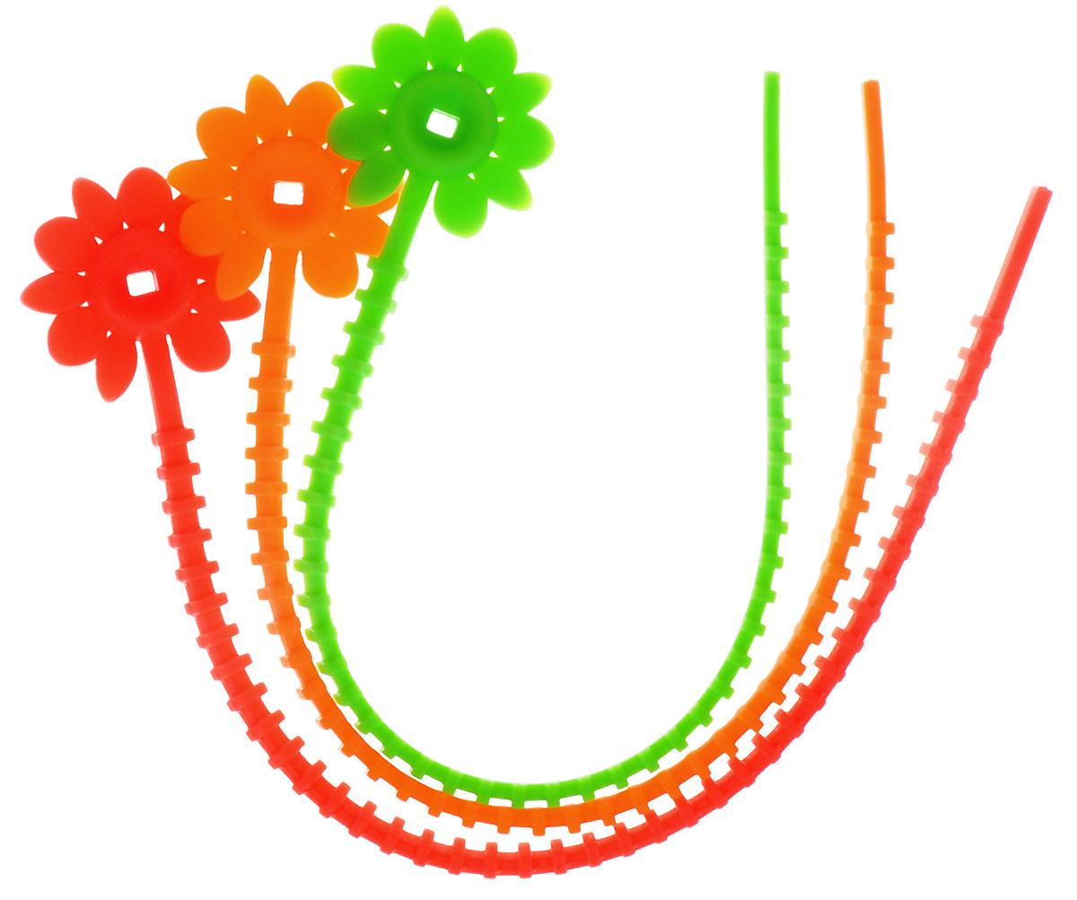 Кулинарная шнур-петля для запекания - очень удобная вещь для тех, кто часто  использует рукав для запекания. Шнуры многоразового использования позволяют  обойтись без нитки или резинки, чтобы завязать рукав. В наборе 3 шнура —  оранжевый, красный и зеленый, а одна сторона декорирована цветком, в котором  есть отверстие для зажима. Шнуры также можно использовать для закрепления  упаковок хлеба и булок и любых других пакетов. Длина шнура-петли: 24,5 см.    УВАЖАЕМЫЕ КЛИЕНТЫ!  Обращаем ваше  внимание на возможные изменения в цветовом дизайне, связанные с  ассортиментом продукции. Поставка осуществляется в зависимости от наличия на  складе.