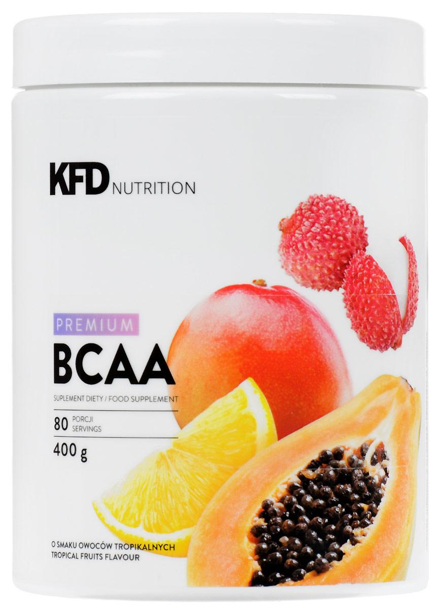 Аминокислоты KFD Premium ВСАА, тропический, 400 г5901947665121KFD Premium BCAA - это смесь аминокислот с разветвлённой цепью (L-лейцин, L- валин и L-изолейцин) в соотношении 2:1:1. Как и во всех продуктах KFD, в нёмнет красителей или вредных или бесполезных добавок.СПОСОБ УПОТРЕБЛЕНИЯ: одну порцию – 10 г (2 мерные ложки «без верха»)нужно всыпать в ёмкость с 150 – 200 мл холодной воды и размешать.Употреблять соответственно индивидуальным потребностям, не чаще 3 раз вдень, например, перед и после тренировки и/или утром перед едой, сразу послеприготовления.УСЛОВИЯ ХРАНЕНИЯ: В плотно закрытой таре, в сухом и хорошопроветриваемом помещении при комнатной температуре, в недоступном длядетей в возрасте до 14 лет месте. Этот продукт не должен употребляться детьми в возрасте до 14, беременнымиженщинами и людьми с болезнями почек и / или печени. Этот продукт содержитподсластители.ПИЩЕВАЯ ЦЕННОСТЬ 100 г 10 г (одна порция) Энергетическая ценность 320 ккал (1340 кДж) 32 ккал (139 кДж) Белки 80 г 8 г Жиры 0 г 0 г Углеводы 0 г 0 г L-лейцин 40 г 4000 мг L-валин 20 г 2000 мг L-изолейцин 20 г 2000 мгСостав: L-лейцин, L-валин, L-изолейцин, рапсовыйлецитин, регулятор кислотности - лимонная кислота, ароматизатор,подсластители - сукралоза и стевиогликозиды.Товар не являетсялекарственным средством. Товар не рекомендован для лиц младше 18 лет. Могут быть противопоказания и следует предварительнопроконсультироваться со специалистом.