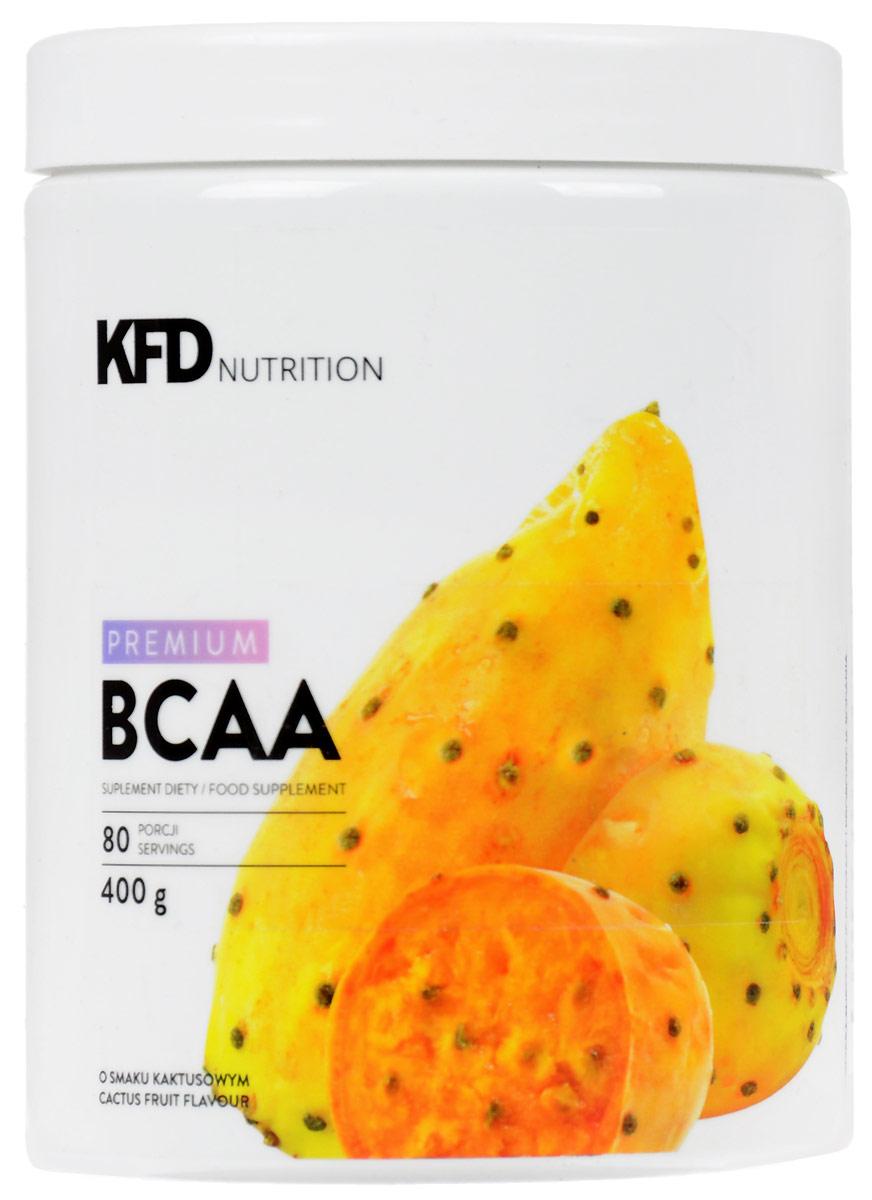 Аминокислоты KFD Premium ВСАА, кактусовый, 400 г5901947661093KFD Premium BCAA это смесь аминокислот с разветвленной цепью (L-лейцин, L-валин и L- изолейцин) в соотношении 2:1:1. Как и во всех продуктах KFD, в нем нет красителей иливредных или бесполезных добавок. СПОСОБ УПОТРЕБЛЕНИЯ: одну порцию – 10 г (2 мерныеложки без верха) нужно всыпать в емкость с 150 – 200 мл холодной воды и размешать.Употреблять соответственно индивидуальным потребностям, не чаще 3 раз в день, например,перед и после тренировки и/или утром перед едой, сразу после приготовления.УСЛОВИЯ ХРАНЕНИЯ: В плотно закрытой таре, в сухом и хорошо проветриваемом помещениипри комнатной температуре, в недоступном для детей в возрасте до 14 лет месте. Этотпродукт не должен употребляться детьми в возрасте до 14, беременными женщинами илюдьми с болезнями почек и / или печени. Этот продукт содержит подсластители.ПИЩЕВАЯЦЕННОСТЬ 100 г 10 г (одна порция) Энергетическая ценность 320 ккал (1340 кДж) 32 ккал (139кДж) Белки 80 г 8 г Жиры 0 г 0 г Углеводы 0 г 0 г L-лейцин 40 г 4000 мг L-валин 20 г 2000 мг L- изолейцин 20 г 2000 мг Состав: L-лейцин, L-валин, L-изолейцин, рапсовый лецитин, регулятор кислотности - лимоннаякислота, ароматизатор, подсластители - сукралоза и стевиогликозиды.Товар не является лекарственным средством. Товар не рекомендован для лиц младше 18 лет.Могут быть противопоказания и следует предварительно проконсультироваться соспециалистом.Какповысить эффективность тренировок с помощью спортивного питания? Статья OZON Гид