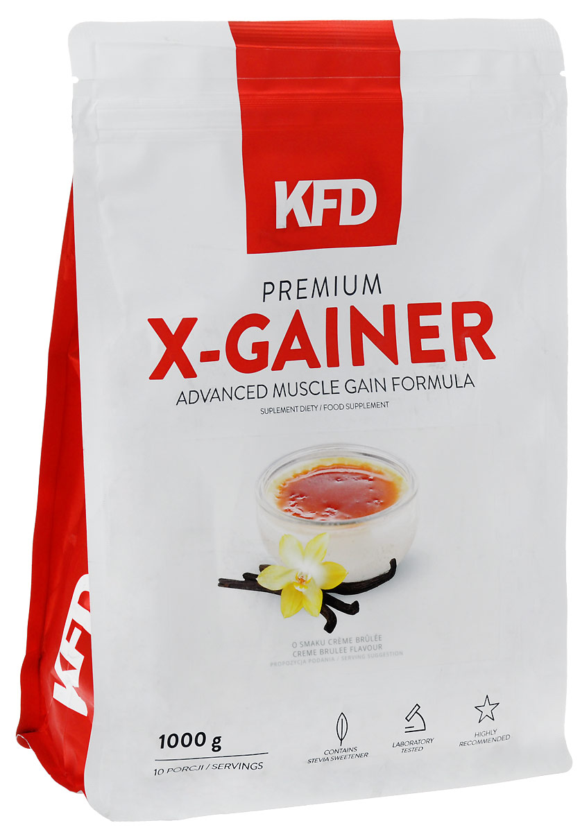 Гейнер KFD Premium X-Gainer, крем-брюле, 1 кг цена