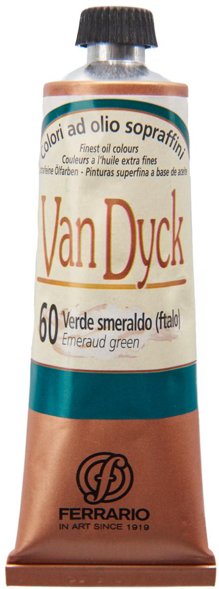 Ferrario Краска масляная Van Dyck цвет №60 изумрудно-зеленый 60 мл