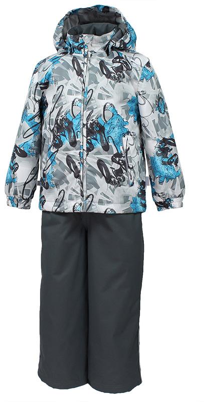 Комплект верхней одежды детский Huppa Yoko: куртка, брюки, цвет: серый. 41190014-82248. Размер 11641190014-82248Комплект верхней одежды детский Huppa Yoko состоит из курткии брюк. Функциональная куртка изготовлена из износостойкого, дышащего,водо- и ветронепроницаемого материала с водо- и грязеотталкивающейповерхностью. Все швы проклеены, водонепроницаемы. Съемный капюшонзащищает от холодного ветра. В брюках имеется ширинка на молнии ирегулируемые эластичные подтяжки. Комплект снабжен светоотражателями. Вкуртке предусмотрены два кармана на молнии.Полная функциональность: отповседневного комфорта до экстремальных условий. Водо- и воздухонепроницаемость 5 000 вверх / 10 000 низ. Утеплитель: куртка 100 г, брюки 40 г. Отличительные особенности: швы проклеены, отстегивающийся капюшон, капюшон на резинке, манжеты рукавов на резинке, регулируемые низы, эластичный шнур с фиксатором, без внутренних швов, резиновые подтяжки.