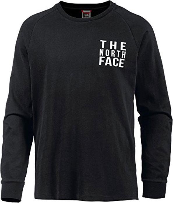 Лонгслив мужской The North Face M Ones Tee, цвет: черный. T93BPNJK3. Размер S (48)T93BPNJK3Удобный лонгслив от The North Face с длинными рукавами для прохладных дней во время путешествий в горах. Модель с круглым вырезом горловины на груди оформлена надписью с названием бренда.