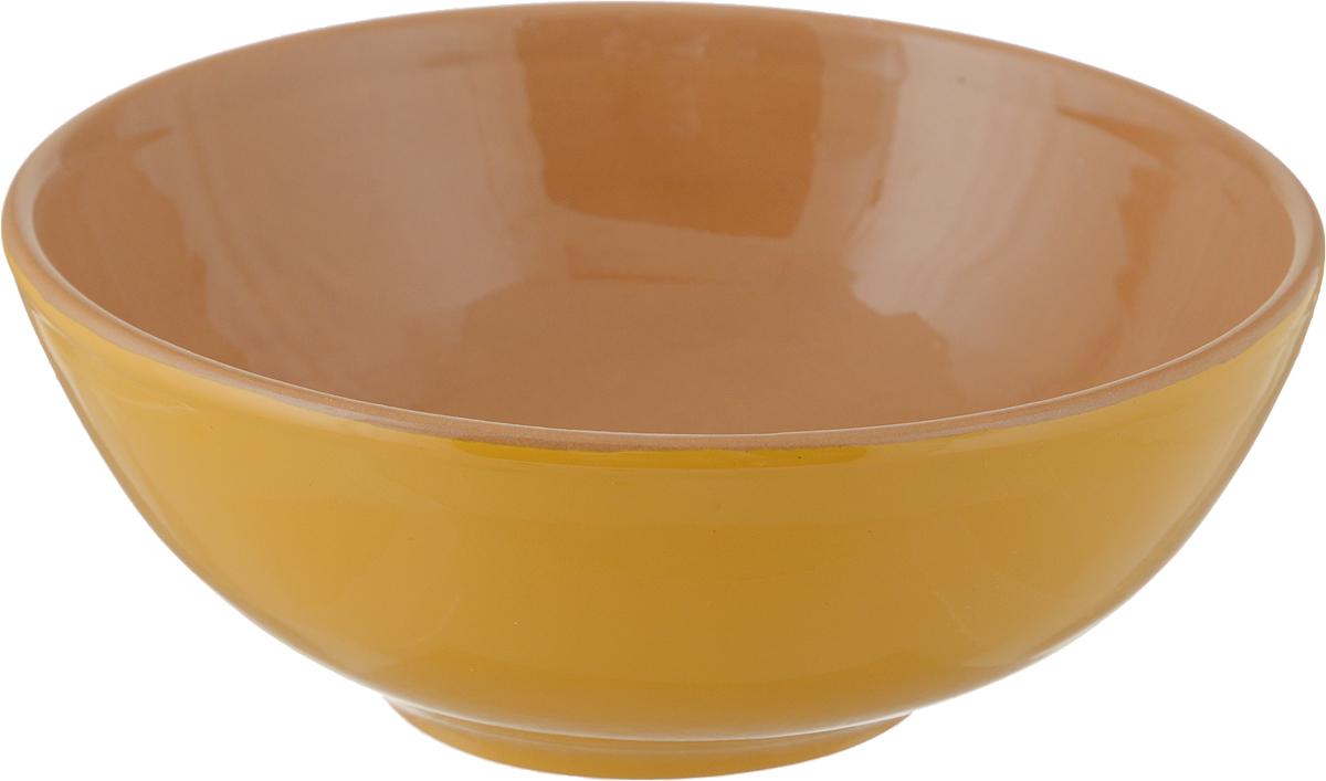Салатник Борисовская керамика Удачный, цвет: желтый, коричневый, 450 мл удачный обмен