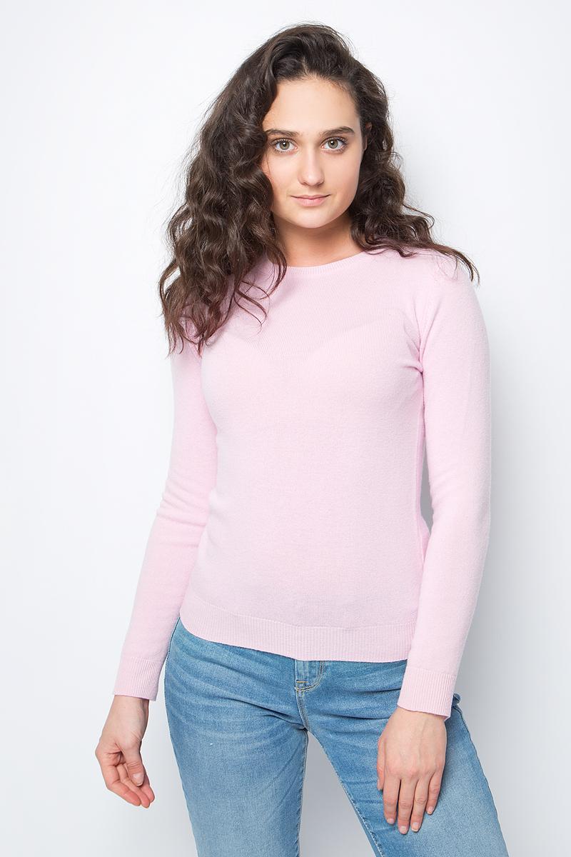 Джемпер женский United Colors of Benetton, цвет: розовый. 1002D1E15_1H0. Размер XS (40/42)1002D1E15_1H0Джемпер от United Colors of Benetton выполнен из натуральной чистой шерсти. Модель с длинными рукавами и круглым вырезом горловины.