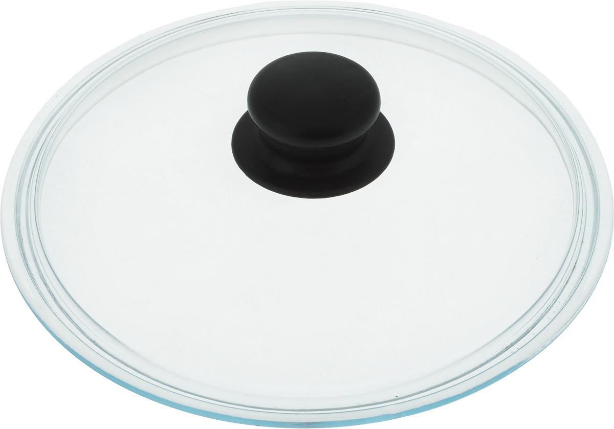 Крышка Mayer & Boch, диаметр 22 см. 207207Крышка из термостойкого стекла с пароотводом и пластиковой ручкой.