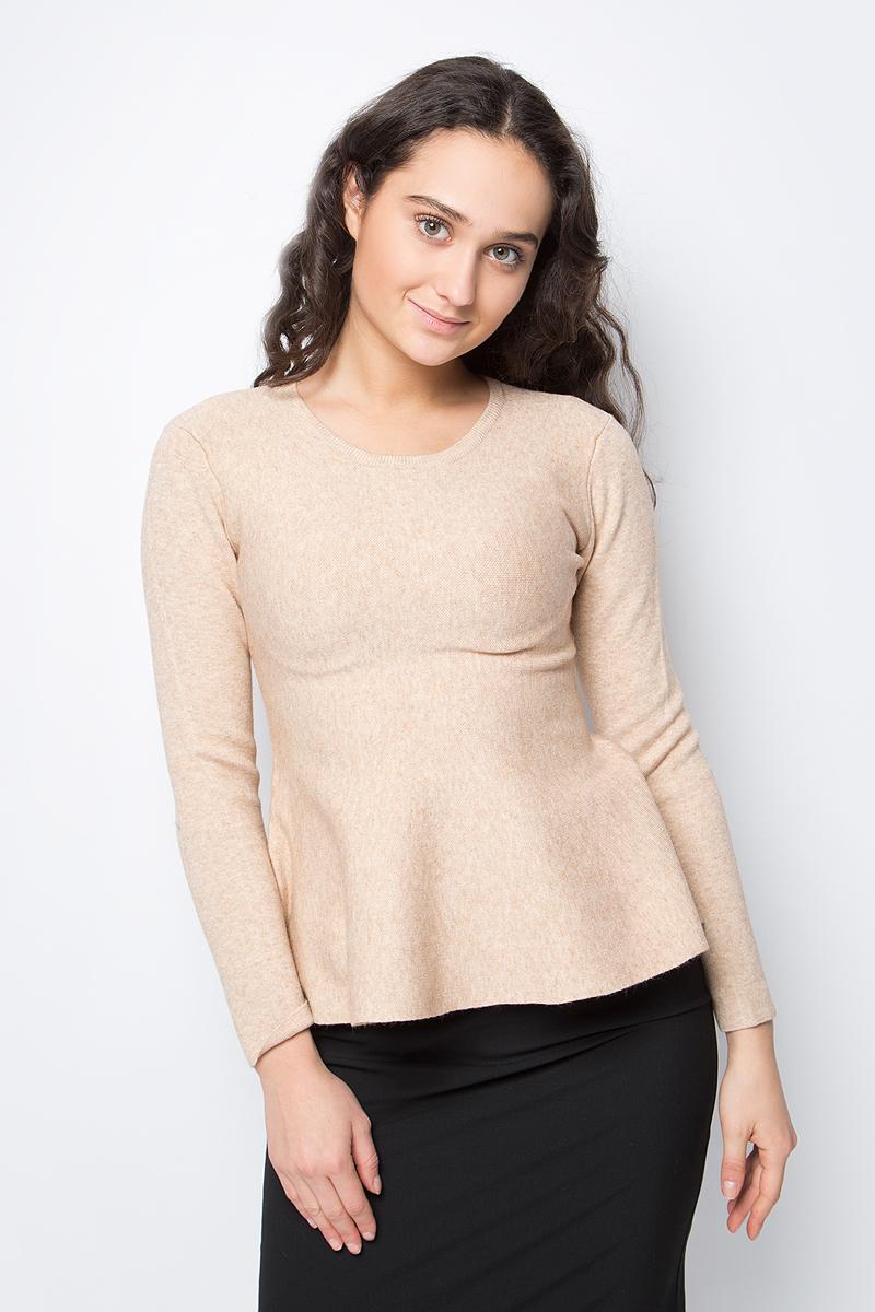 Джемпер женский Lusio, цвет: песочный. AW18-340030. Размер S/M (42/46)