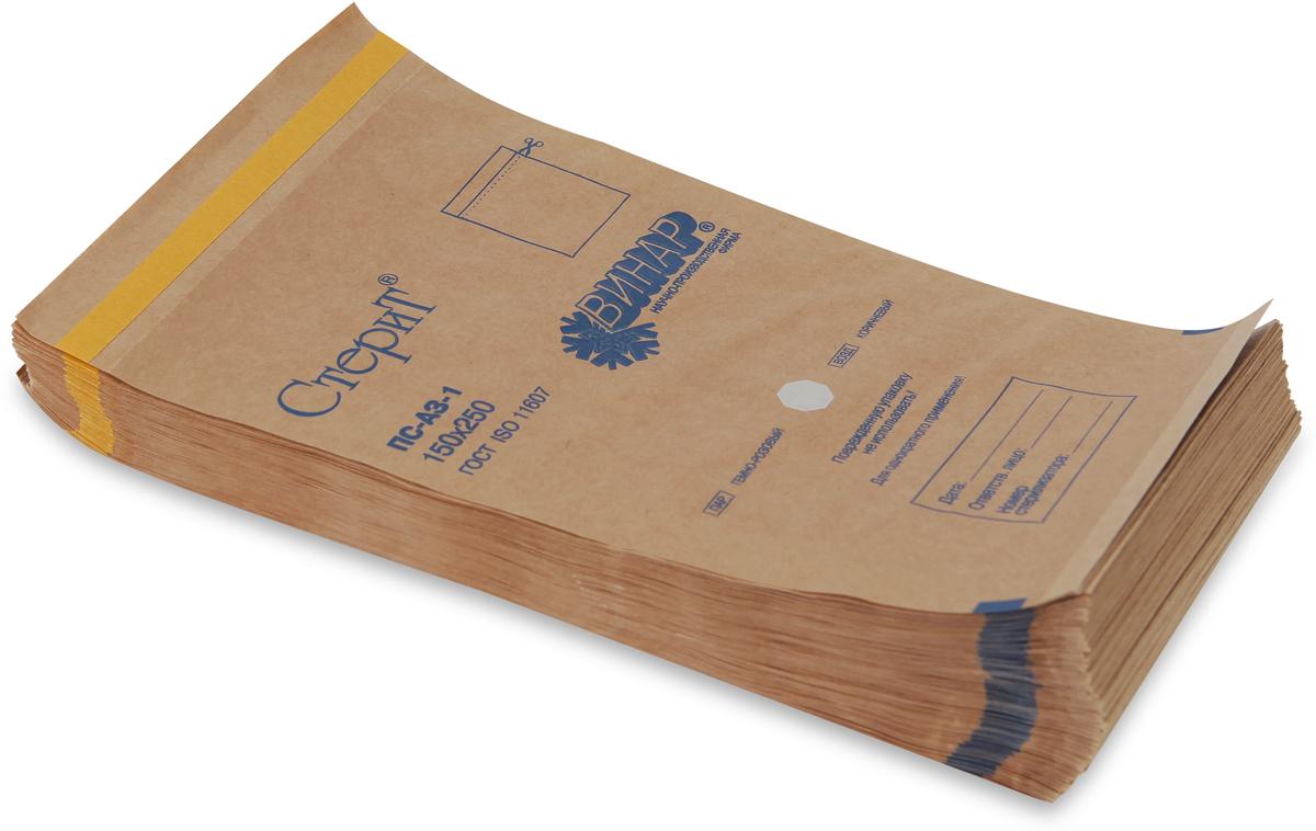 НПФ ВИНАР Крафт пакет с индикатором, 100 шт10422Профессиональные одноразовые пакеты используются для стерилизации и последующего хранения металлического инструмента. Выпускаются из крафт-бумаги и из белой. Пакет допускается держать в сухожаровом шкафу 60 минут или 15 минут внутри автоклава. На пакетах есть индикаторы, изменение цвета которых говорит о том, что инструмент прошел должную стерилизационную обработку. Согласно санитарным правилам, пакеты вскрываются непосредственно перед клиентом. Размер 100 x 250 мм. В упаковке 100 шт.