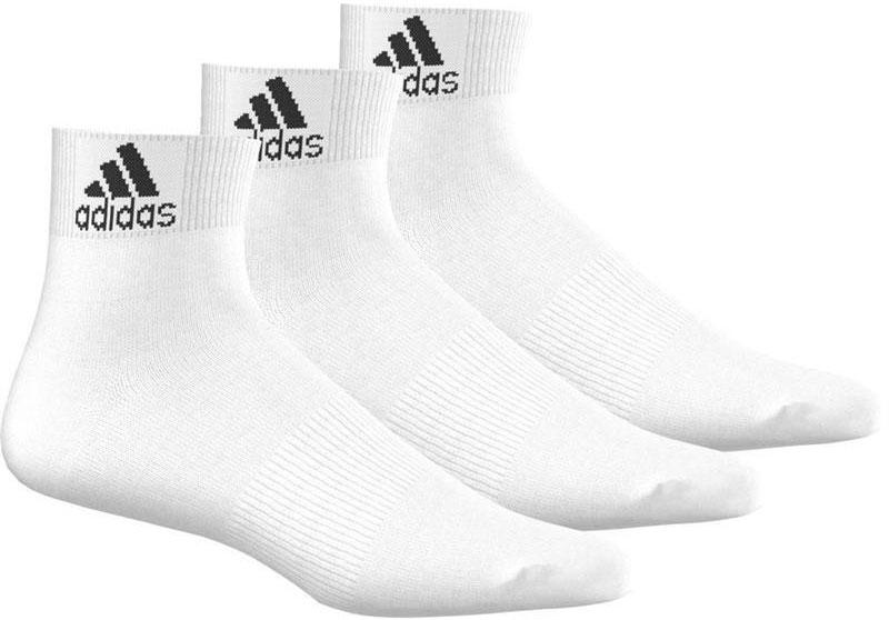 Носки Adidas Per Ankle T, цвет: белый, 3 пары. AA2320. Размер 39/42AA2320Носки adidas изготовлены из высококачественного эластичного хлопка с добавлением полиэстера и полиамида. Модель с поддержкой стопы имеет эластичную резинку, которая надежно фиксирует носки на ноге. В комплект входят 3 пары носков.