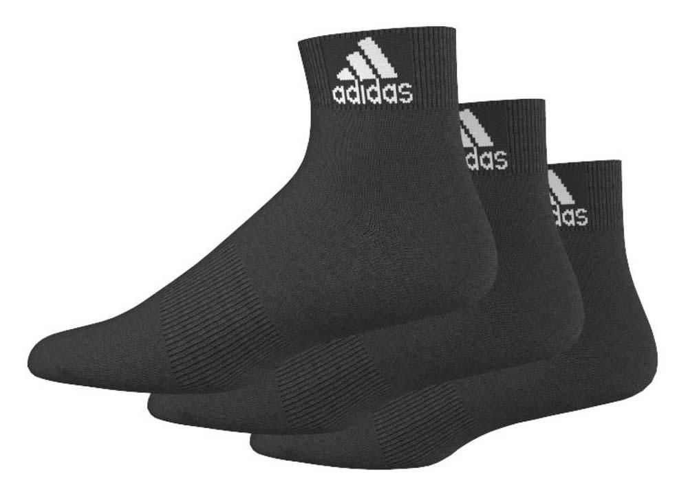 Носки Adidas Per Ankle T, цвет: черный, 3 пары. AA2321. Размер 39/42AA2321Носки adidas изготовлены из высококачественного эластичного хлопка с добавлением полиэстера и полиамида. Укороченные носки с поддержкой стопы имеют эластичную резинку, которая надежно фиксирует носки на ноге. В комплект входят 3 пары носков.