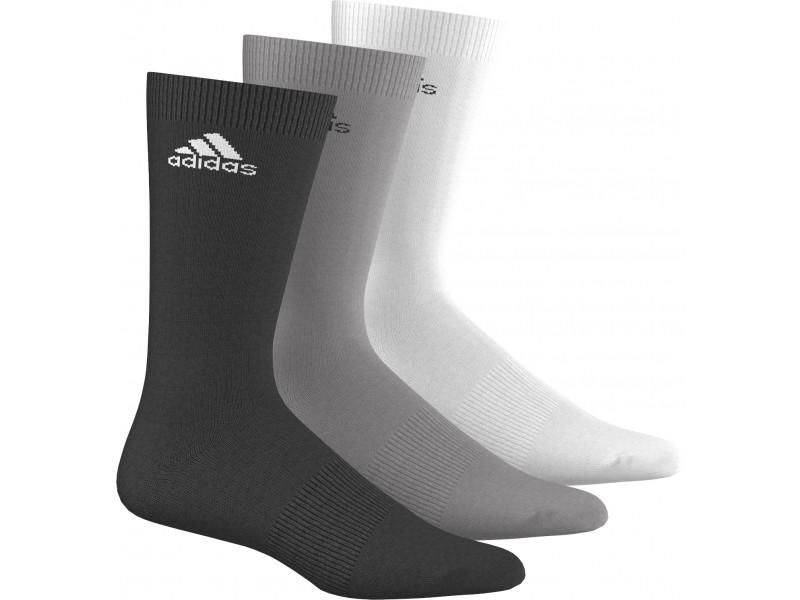 Носки Adidas Per Crew T, цвет: черный, белый, серый, 3 пары. AA2331. Размер 43/46AA2331Носки Adidas с усилением в области свода стопы, изготовленные из высококачественных материалов, комфортны при носке. Эластичная резинка плотно облегает ногу, не сдавливая ее, обеспечивая комфорт и удобство.