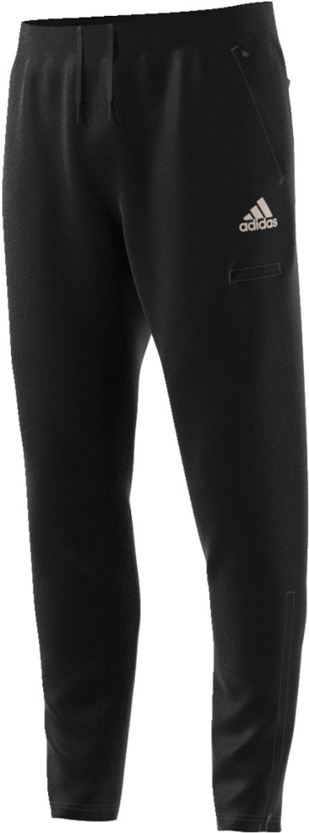 Брюки мужские Adidas Tan Cargo Pnt, цвет: черный. CV9855. Размер L (52/54)CV9855Мужские брюки Adidas выполнены на стыке футбольного и уличного стилей. Модель изготовлена из быстросохнущей ткани Climalite и дополнена передними боковыми, задними накладными карманами и небольшим прорезным и накладным кармашками на бедре. Удобные молнии на щиколотках предусмотрены для легкого надевания и снимания. Облегающий и зауженный книзу крой. Эластичный пояс на регулируемых завязках-шнурках обеспечит комфорт при носке.