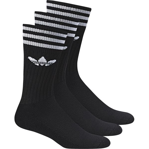 Носки Adidas Solid Crew Sock, цвет: черный, 3 пары. S21490. Размер 39/42 usb male to micro usb male flexible data cable black
