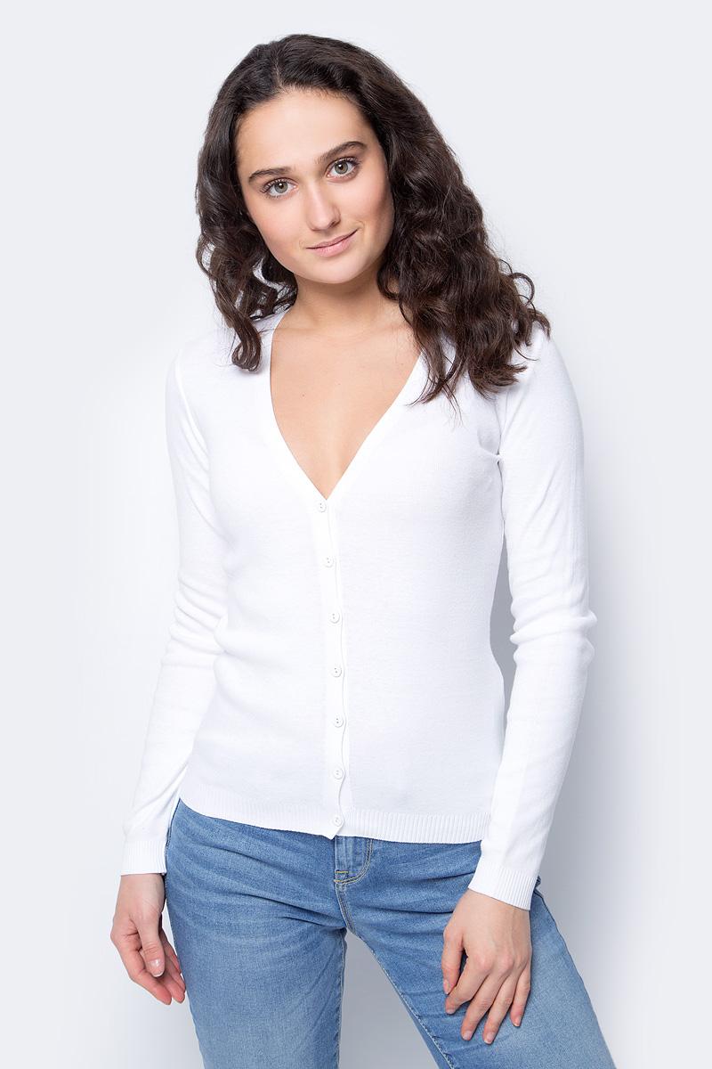 Кардиган женский United Colors of Benetton, цвет: белый. 1091D6705_101. Размер M (44/46)