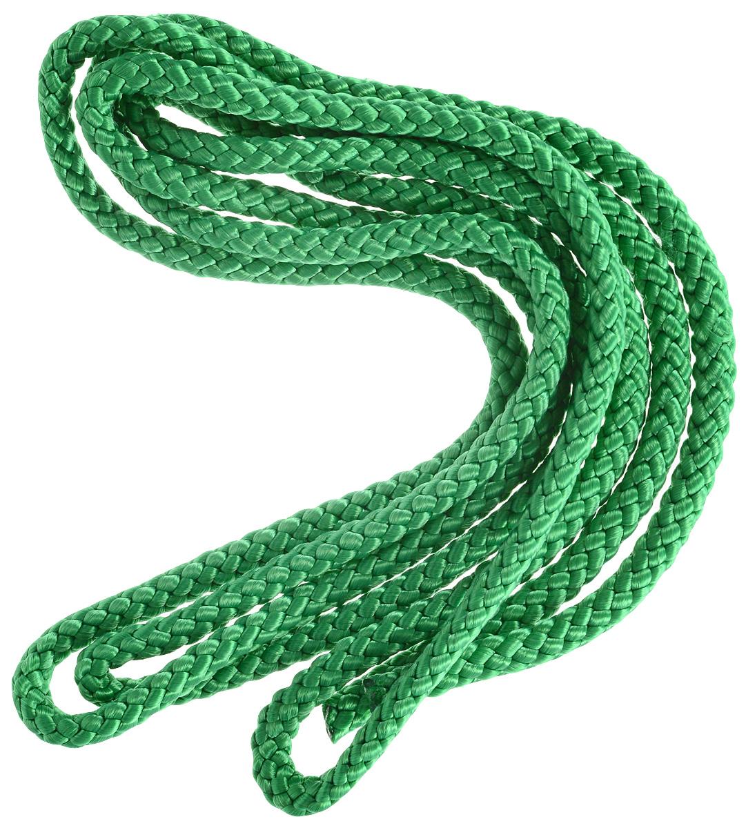 Скакалка гимнастическая Larsen, цвет: зеленый, длина 3 м скакалка скоростная proxima crossfit jr 7001 r red