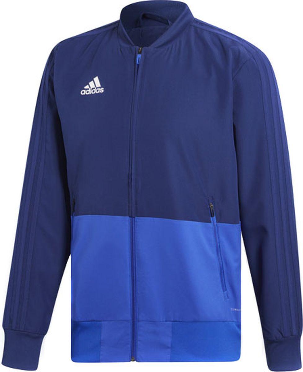 Олимпийка мужская Adidas Con18 Pre Jkt, цвет: синий. CV8248. Размер M (48/50) олимпийка adidas adidas ad094egqhw32