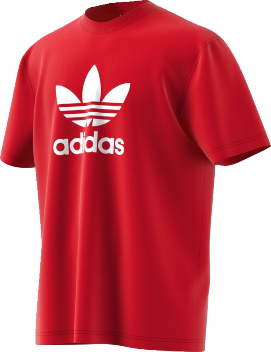 Футболка мужская Adidas Trefoil T-Shirt, цвет: красный. CX1895. Размер S (44/46) футболка мужская adidas rfu 3s tee цвет красный cd5275 размер s 44 46