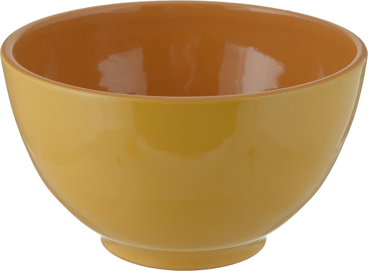 Салатник Борисовская керамика Радуга, цвет: желтый, коричневый, 1,2 лРАД00000537_желтый/коричневыйСалатник Борисовская керамика Радуга, цвет: желтый, коричневый, 1,2 л