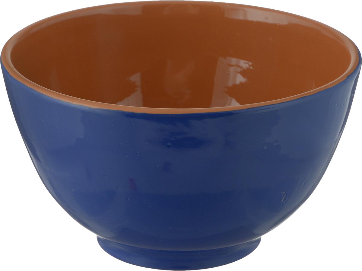 Салатник Борисовская керамика Радуга, цвет: синий, 1,2 лРАД00000537_синий/коричневыйСалатник Борисовская керамика Радуга, цвет: синий, 1,2 л