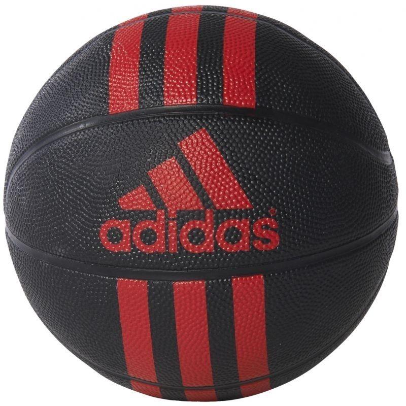 """Фото Мяч-мини баскетбольный """"Adidas"""", цвет: черный, красный. Размер 3"""