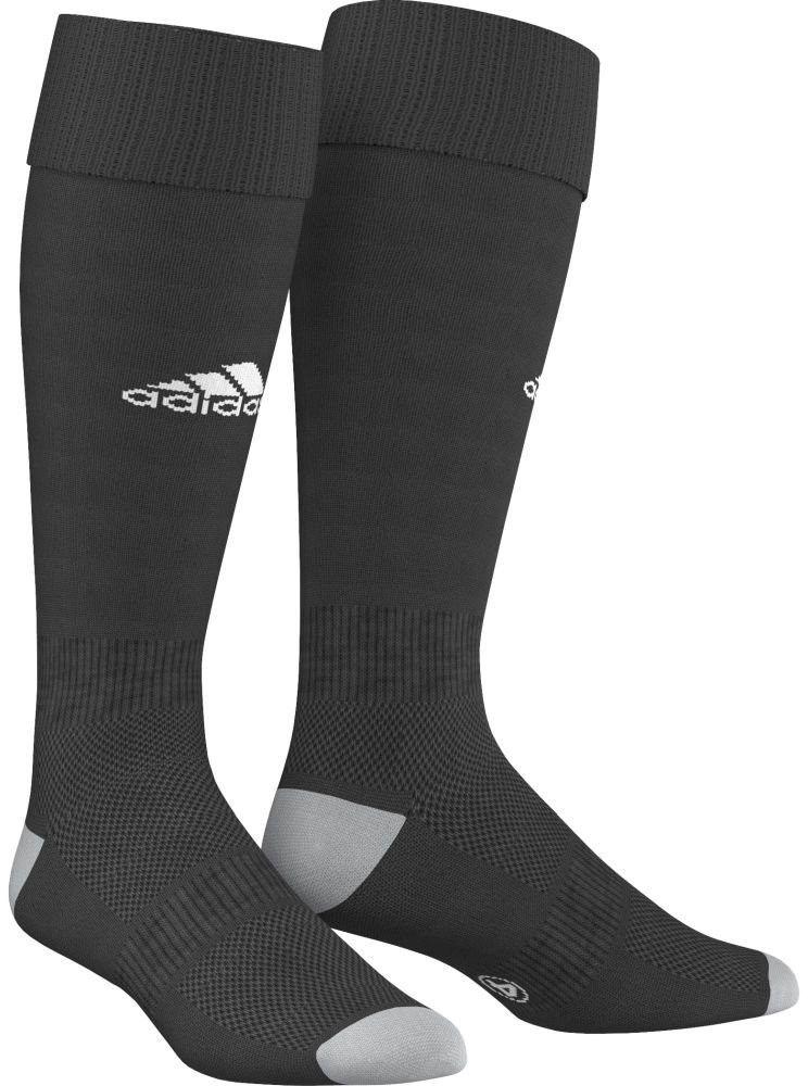 Гетры футбольные мужские Adidas Milano 16 Sock, цвет: черный, белый. AJ5904. Размер 37/39