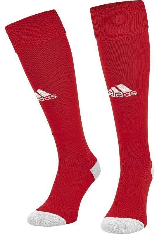 Гетры футбольные мужские Adidas Milano 16 Sock, цвет: красный, белый. AJ5906. Размер 40/42