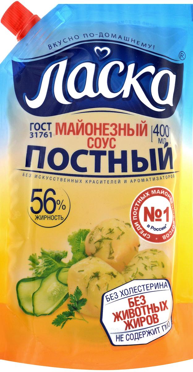 Ласка Постный майонезный соус, 56%, 380 мл