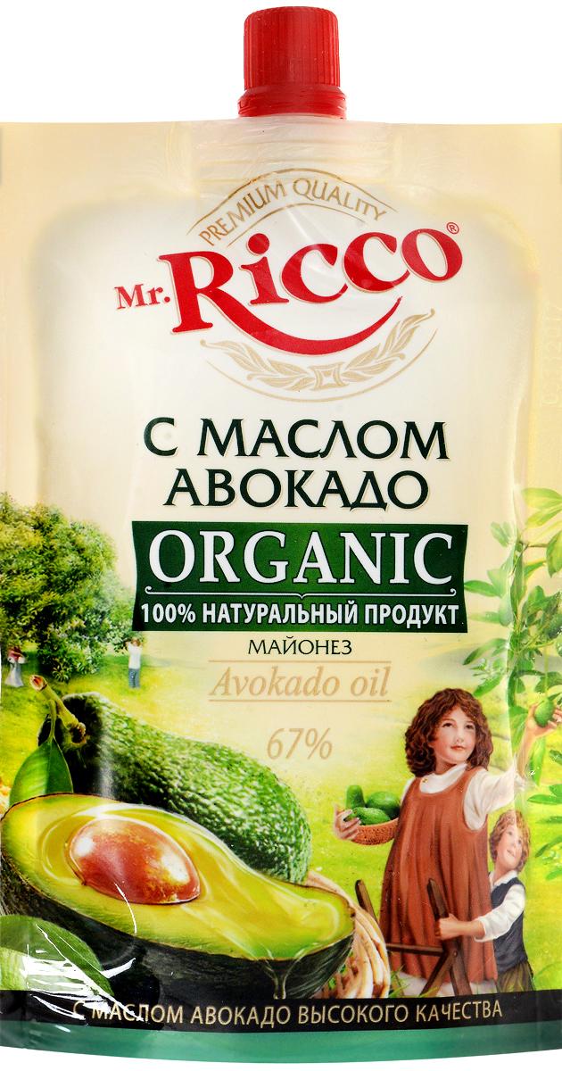 Mr.Ricco Майонез Organic с маслом авокадо, 67%, 220 мл био масло рапсовое auchan 750мл