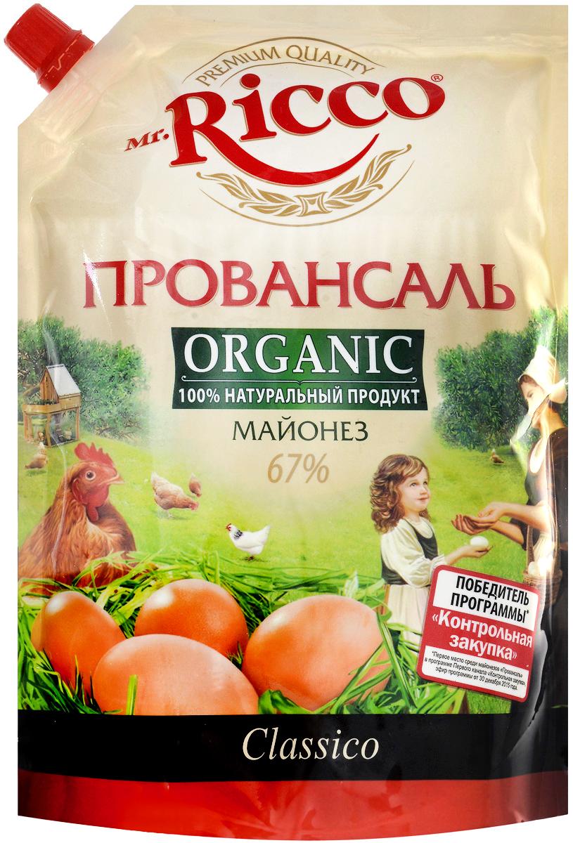 Mr.Ricco Майонез Organic Провансаль, 67%, 800 мл пудовъ чесночный хлеб 500 г