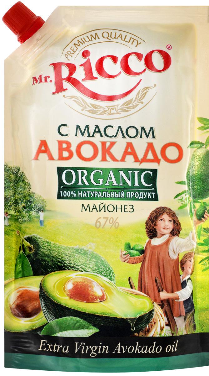 Mr.Ricco Майонез Organic с маслом авокадо, 67%, 400 мл оливковое масло itlv 100% clasico 500мл