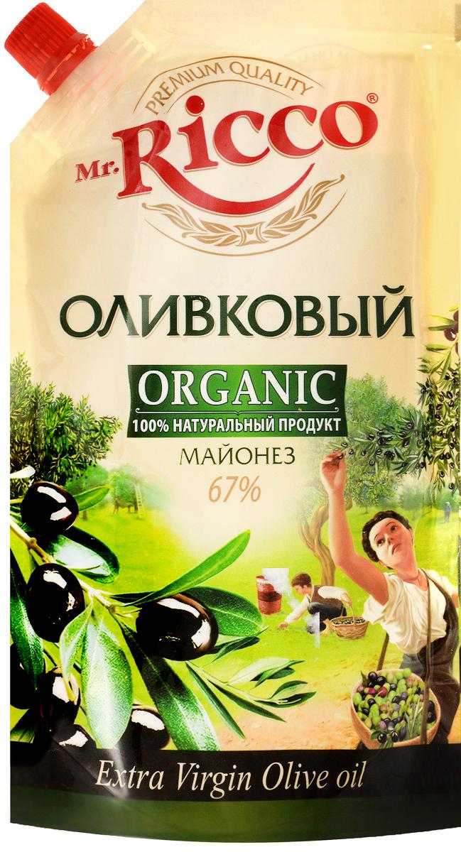 Mr.Ricco Майонез Organic Оливковый, 67%, 400 мл био масло рапсовое auchan 750мл