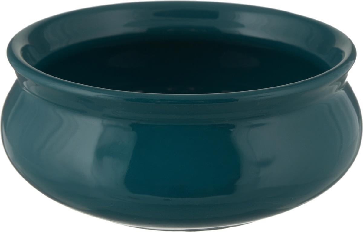 Тарелка Борисовская керамика Скифская, цвет: темно-зеленый, 300 мл,РАД00002219_темно-зеленыйТарелка Борисовская керамика Скифская, цвет: темно-зеленый, 300 мл,