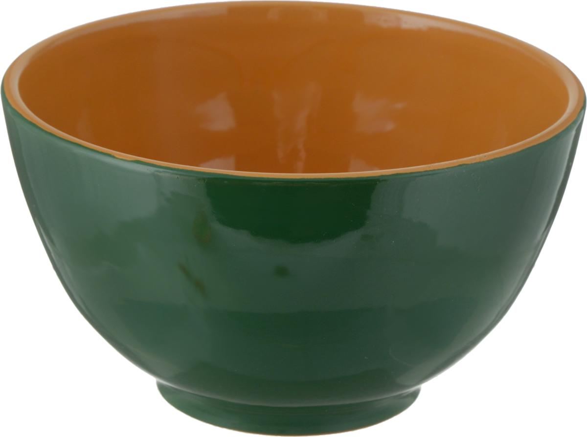 Салатник Борисовская керамика Радуга, цвет: зеленый, коричневый, 1,2 лРАД00000537_зеленый/коричневыйСалатник Борисовская керамика Радуга, цвет: зеленый, коричневый, 1,2 л