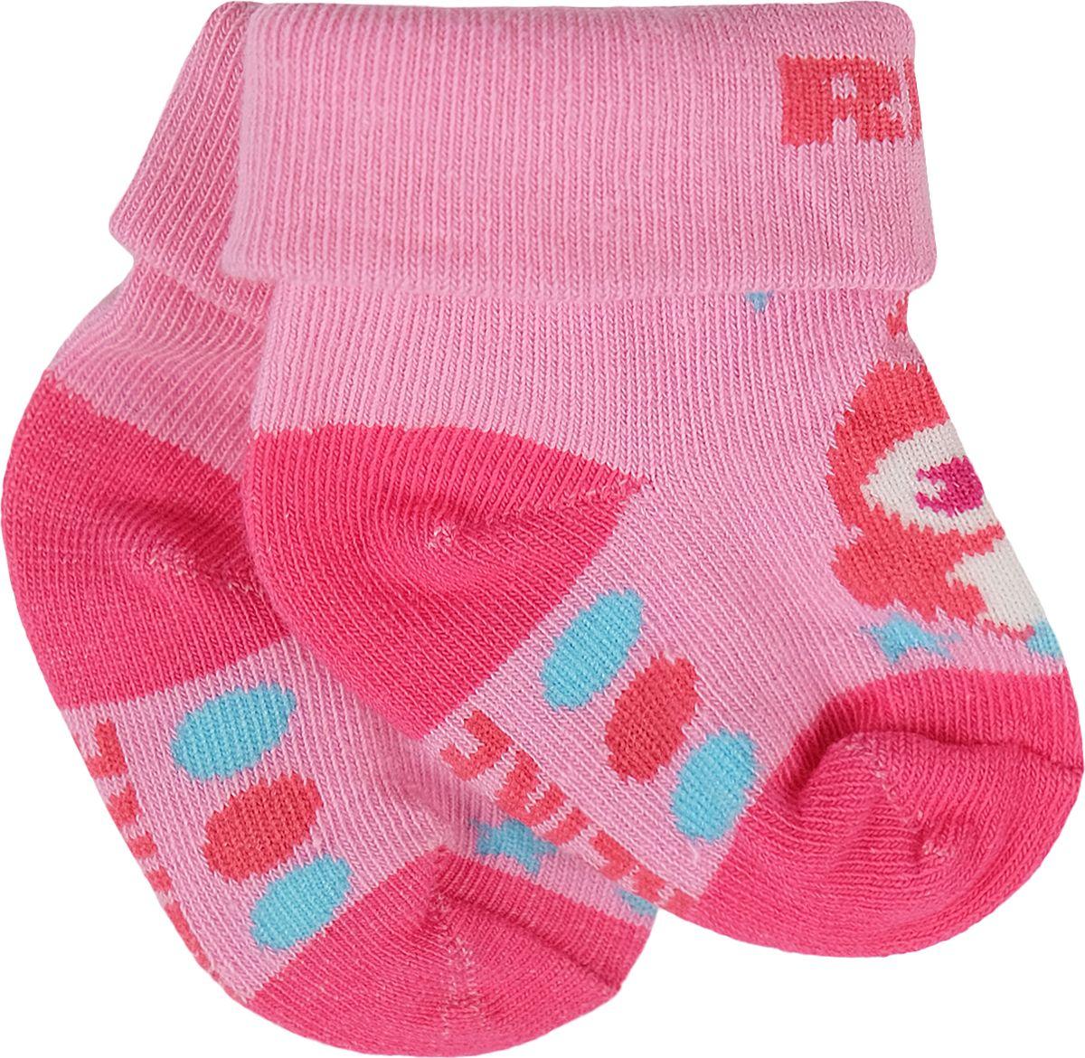 Носки для девочки Reike, цвет: розовый. RSK18_BS1 pink. Размер 10RSK18_BS1 pinkДетские носки с отворотом выполнены из хлопкового материала с добавлением полиэстера и полиуретана. Эластичная резинка мягко облегает ножку ребенка. Усиленные пятка и мысок обеспечивают надежность и долговечность.