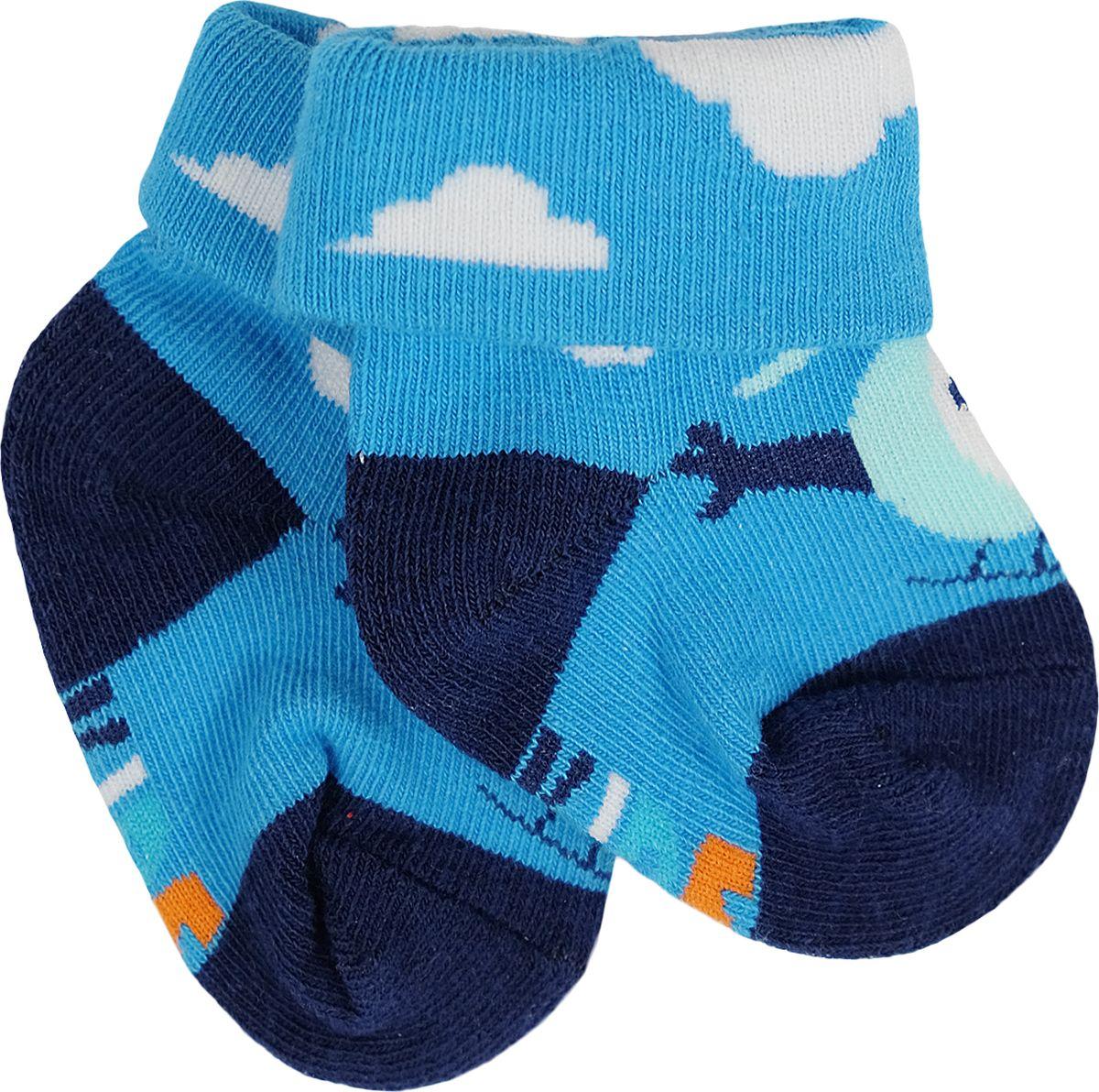 Носки для мальчика Reike, цвет: синий. RSK18_TRV blue. Размер 10RSK18_TRV blueНоски с отворотами для мальчика выполнены из хлопка с добавлением полиэстера и полиуретана. Эластичная резинка мягко облегает ножку ребенка. Усиленные пятка и мысок обеспечивают надежность и долговечность.