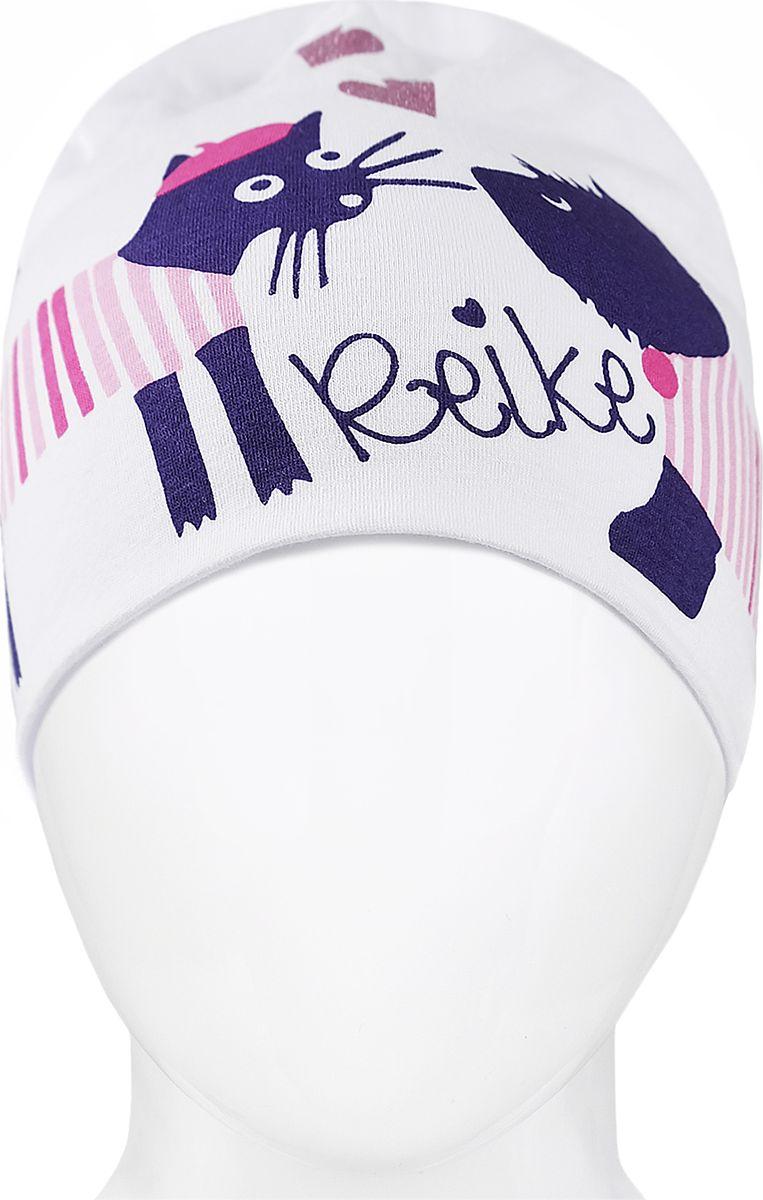 Шапка для девочки Reike, цвет: белый. RKNSS18_PRS-1 white. Размер 54