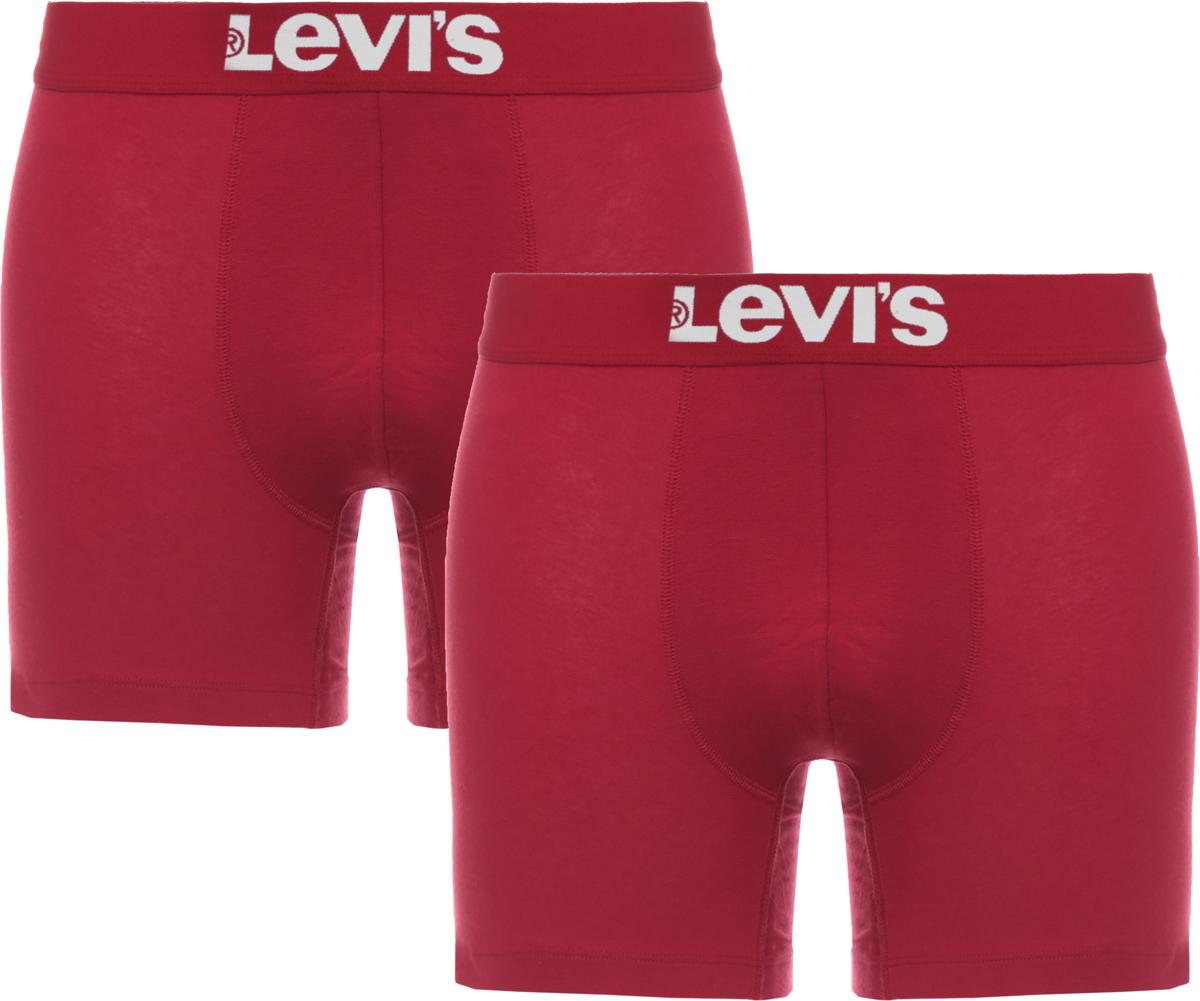 Трусы-боксеры мужские Levi's®, цвет: красный, 2 шт. 3714900010. Размер XXL (54) трусы боксеры diesel 00sj54 0kapm 912