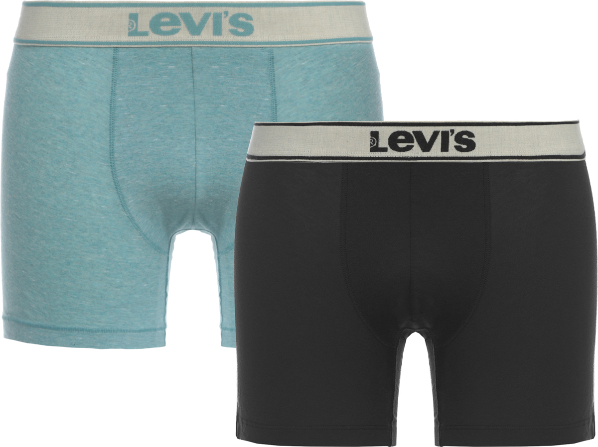 Трусы-боксеры мужские Levi's®, цвет: серый, синий, 2 шт. 3714900240. Размер XXL (54) цена