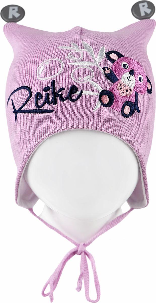 Шапка для девочки Reike, цвет: розовый. RKNSS18_KL-YN-2 pink. Размер 46RKNSS18_KL-YN-2 pinkШапка на завязках Reike изготовлена из 100% хлопка. Модель с контрастной хлопковой подкладкой.Уважаемые клиенты!Размер, доступный для заказа, является обхватом головы.