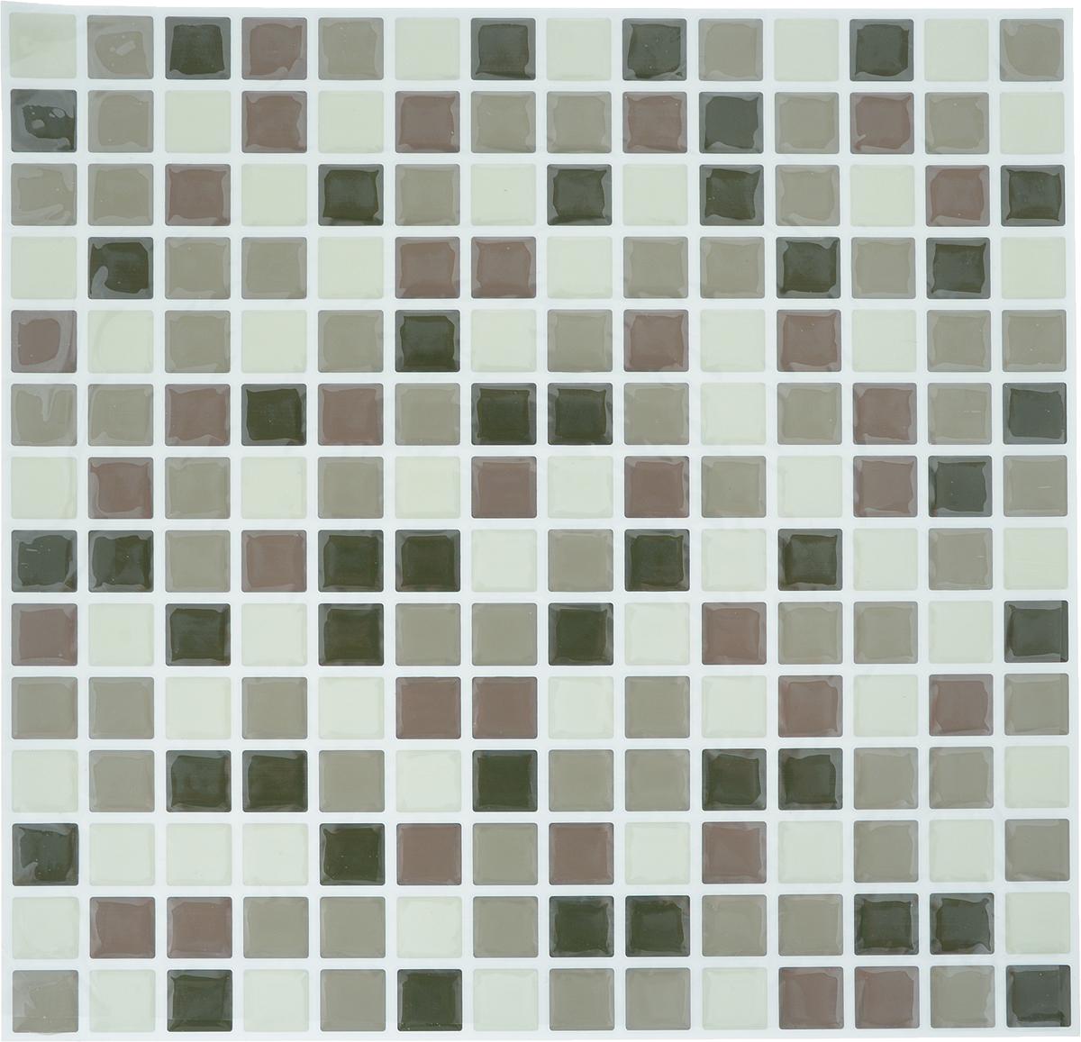 """Наклейка-мозаика декоративная """"Arte Nuevo"""", цвет: белый, коричневый, черный, 26,2 х 36,4 см."""