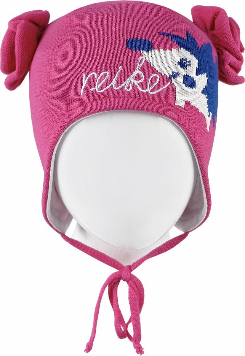 Шапка для девочки Reike, цвет: фуксия. RKNSS18_HGH-YN-1 fuchsia. Размер 48RKNSS18_HGH-YN-1 fuchsiaШапка на завязках Reike изготовлена из 100% хлопка. Модель с контрастной хлопковой подкладкой.Уважаемые клиенты!Размер, доступный для заказа, является обхватом головы.