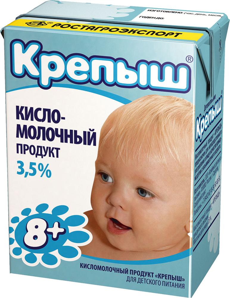 Крепыш Кисломолочная смесь 3,5%, 200 г молочные продукты