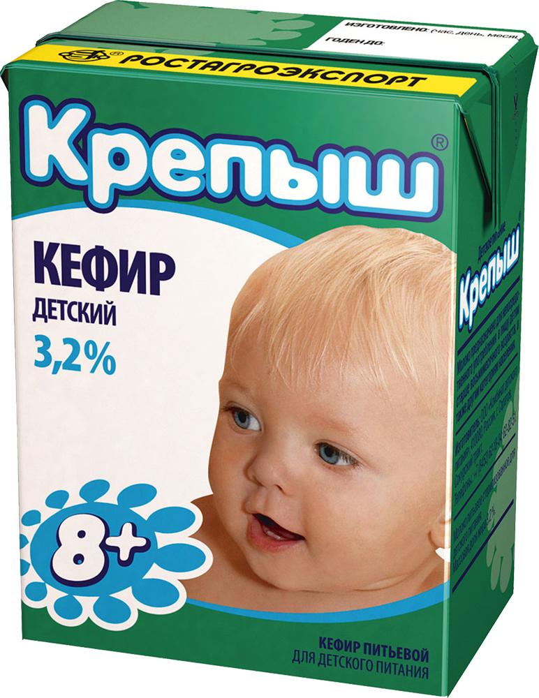 Крепыш Кефир 3,2%, 204 г молочные продукты