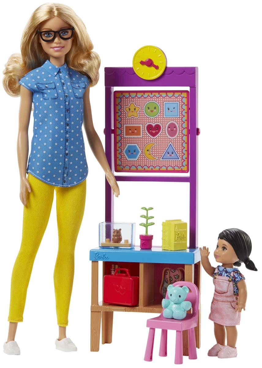Barbie Игровой набор с куклой Учитель DHB63_FJB29 barbie игровой набор с куклой спасатель животных