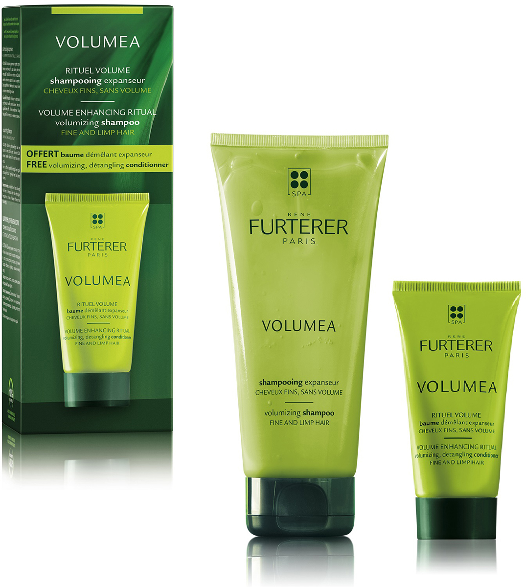 Rene Набор Для объема волос Furterer Volumea: Шампунь, 200 мл + Бальзам, 30 мл