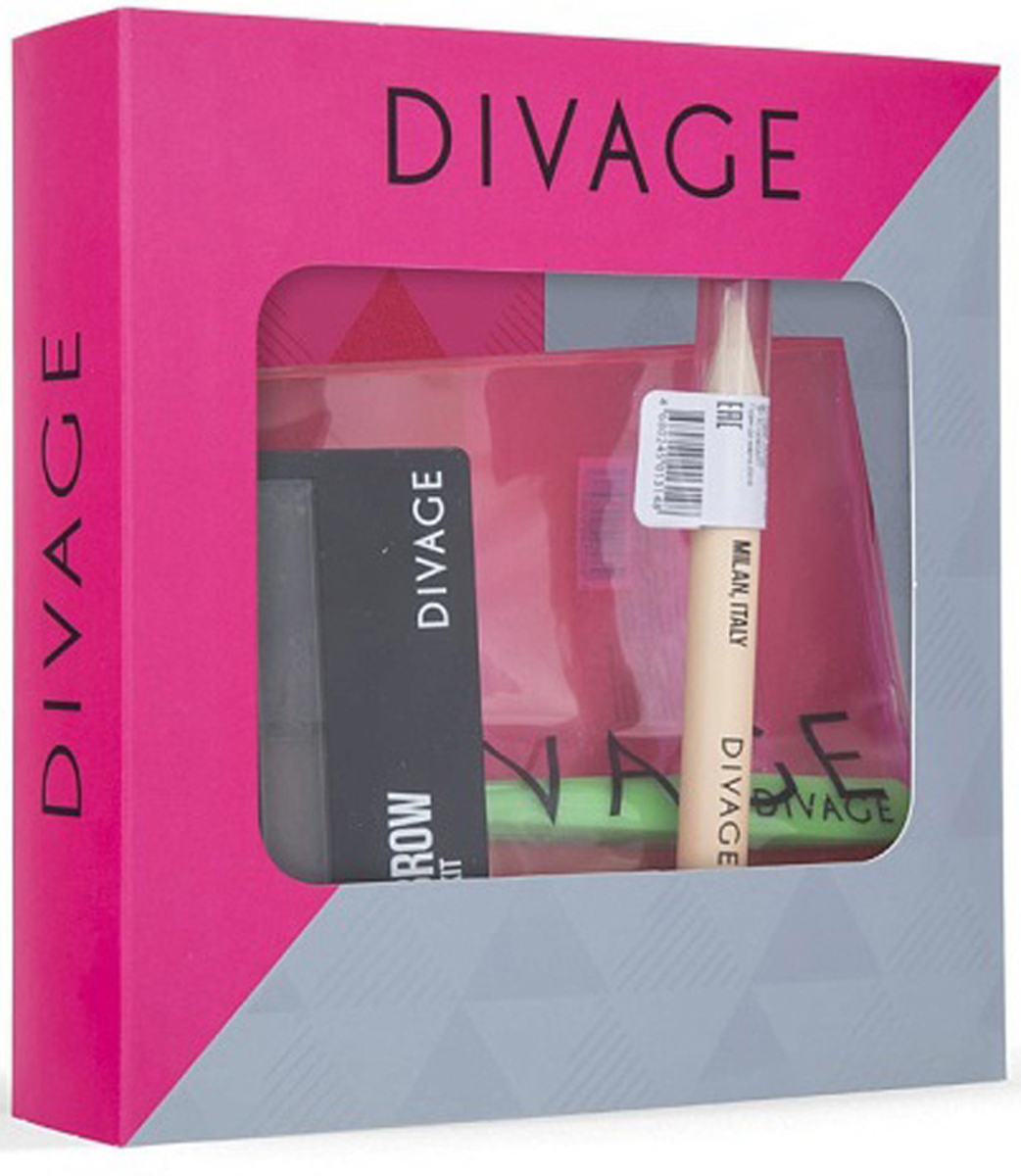 Divage Набор для моделирования формы бровей Eyebrow Styling Kit: Хайлайтер для бровей, тон №01 + Пинцет для бровей набор для бровей absolute new york hd eyebrow kit 03 цвет aebk03 brunette variant hex name 917661