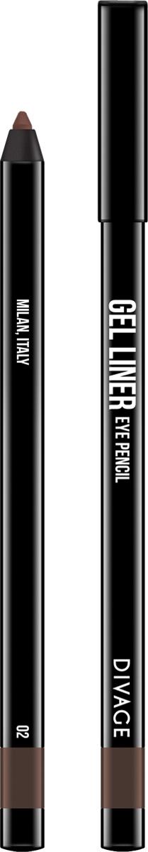 Divage Карандаш для глаз гелевый Gel Liner, тон №02, 2 гBriCGEL02Гелевая трендовая текстура карандаша не растекается, не скатывается и не смазывается. Мягкая, кремовая формула создает насыщенный, яркий цвет и гарантирует легкое и точное нанесение, сохраняя совершенный вид в течение всего дня. В коллекции самые трендовые насыщенные оттенки. - 5 модных, универсальных оттенков - в термоусадке.