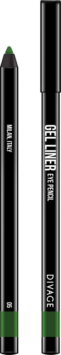 Divage Карандаш для глаз гелевый Gel Liner, тон №05, 2 г divage карандаш для губ гелевый gel liner 5 оттенков 1 шт 01